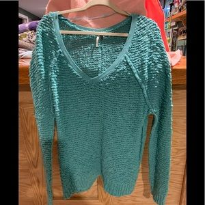 Teal colored large sweater by Free People